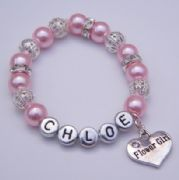 Flower Girl Personalised Bracelet - Sparkle & Bling Style